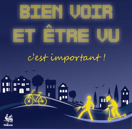 À pied ou à vélo, faites-vous voir !