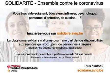 Coronavirus : appel aux professionnels de l'aide et de la santé
