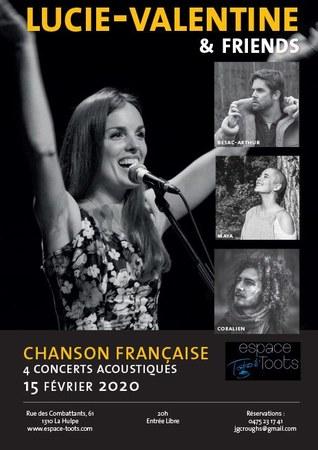 Concert acoustique Lucie-Valentine & friends