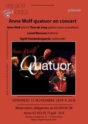 Espace Toots, concert jazz, Anne Wolf quatuor